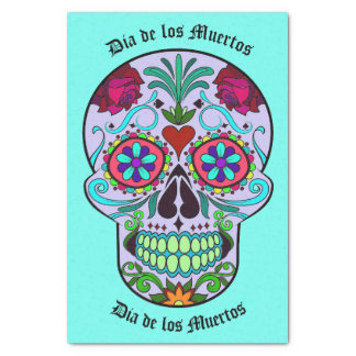 Dia de los Muertos Sugar Skull Tissue Paper Wrap