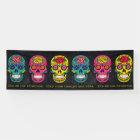 Día de los Muertos Sugar Skulls Custom Text Banner