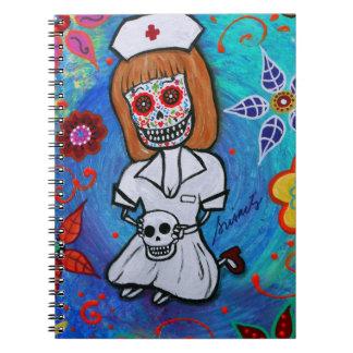 Dia de los Muertos Sweet Nurse Notebook