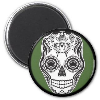 Dia de los Muertos That Girl Skull 2 Inch Round Magnet