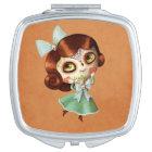 Dia de Los Muertos Vintage Doll Vanity Mirror