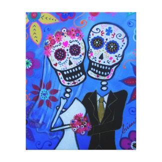 Dia de los Muertos Wedding by Prisarts Canvas Print