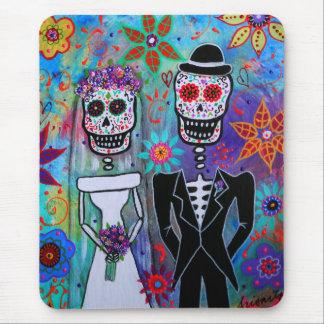 DIA DE LOS MUERTOS WEDDING MOUSE PAD