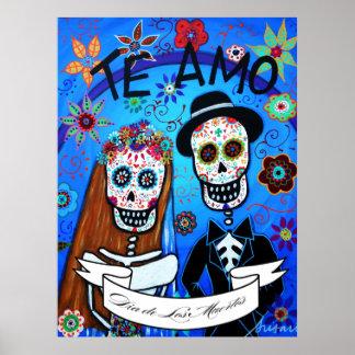 Dia de los Muertos Wedding Poster