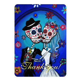 DIA DE LOS MUERTOS WEDDING THANK YOU CARD