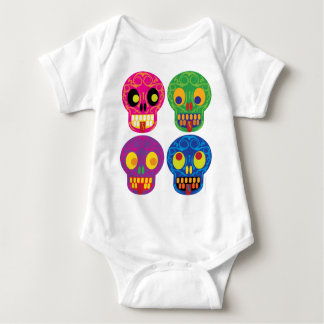 Dia de los todos los muertos baby bodysuit