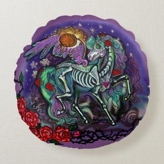 Día de Muertos Horse Round Pillow