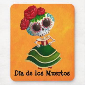 Dia de Muertos Mexican Miss Death Mouse Pad