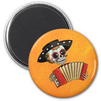 Dia de Muertos Skeleton Musician Magnets