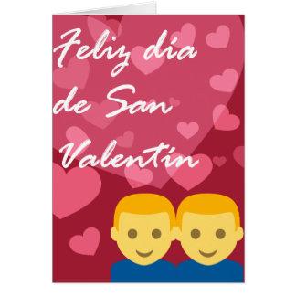 Día de San Valentín Hombre Hombre Corazón Card