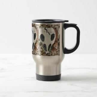 dia del muertos painted skulls travel mug