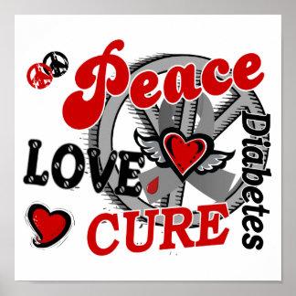 Diabète du traitement 2 d'amour de paix poster