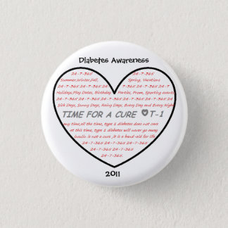 Diabetes Awareness 2011 1 Inch Round Button