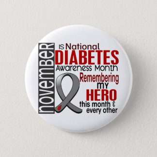 Diabetes Awareness Month Ribbon I2.2 2 Inch Round Button