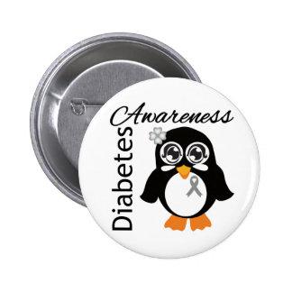 Diabetes Awareness Penguin Buttons