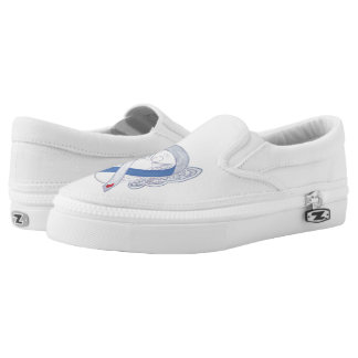 Diabetes Awareness Ribbon Angel IDDM Custom Shoes