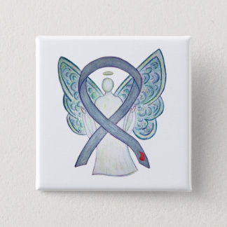 Diabetes Awareness Ribbon Custom Angel NIDDM Pins