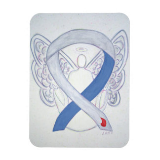 Diabetes Awareness Ribbon IDDM Angel Art Magnets
