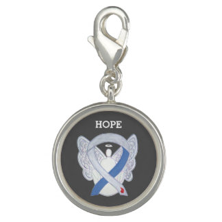 Diabetes Awareness Ribbon IDDM Angel Charm