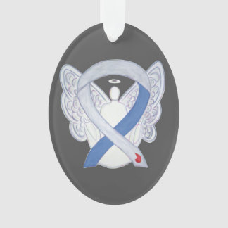 Diabetes Awareness Ribbon IDDM Angel Ornament