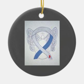 Diabetes Awareness Ribbon IDDM Angel Ornaments