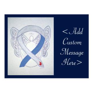 Diabetes Awareness Ribbon IDDM Angel Postcard