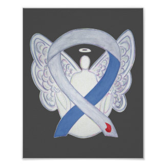 Diabetes Awareness Ribbon IDDM Angel Poster Print