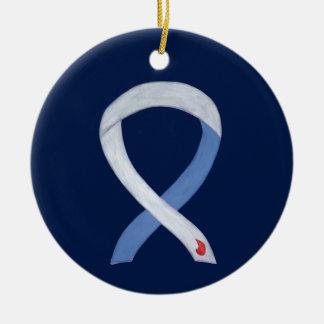 Diabetes Awareness Ribbon IDDM Custom Ornaments