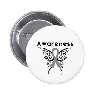 Diabetes Awareness Tribal Butterfly 2 Inch Round Button