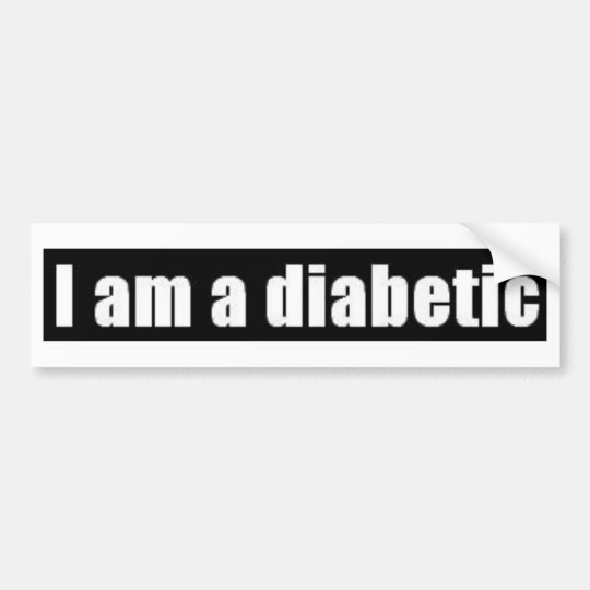 Diabetes Bumper Sticker