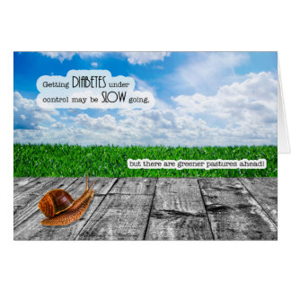 Diabetes Get Well - Greener Pastures Card