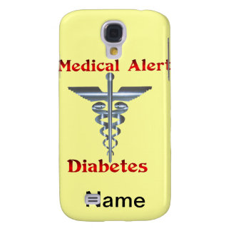 Diabetes Medical Alert Silver Rod & Snakes