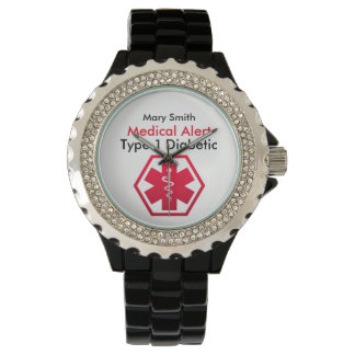Diabetes Medical Alert Type 1 or 2 Watch
