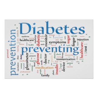 Diabetes Preventing Blue Poster