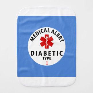 DIABETES TYPE 1 BURP CLOTH