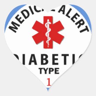 DIABETES TYPE 1 HEART STICKER
