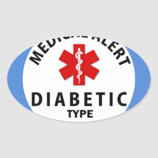 DIABETES TYPE 1 OVAL STICKER