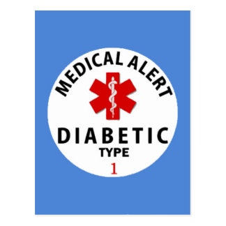 DIABETES TYPE 1 POSTCARD