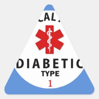 DIABETES TYPE 1 TRIANGLE STICKER