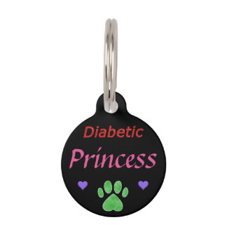 Diabetic Alert Princess Custom Pet Tag