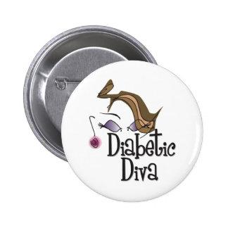 Diabetic Diva 2 Inch Round Button