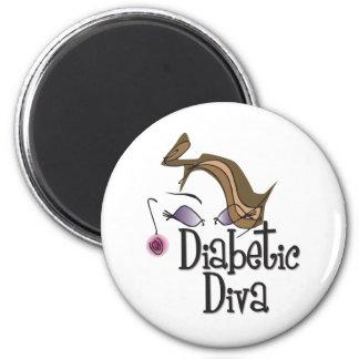 Diabetic Diva 2 Inch Round Magnet