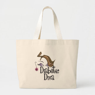 Diabetic Diva Large Tote Bag