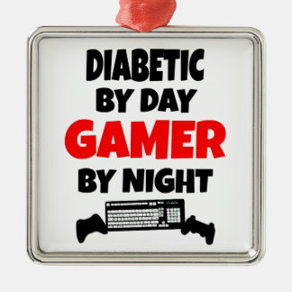 Diabetic Gamer Metal Ornament