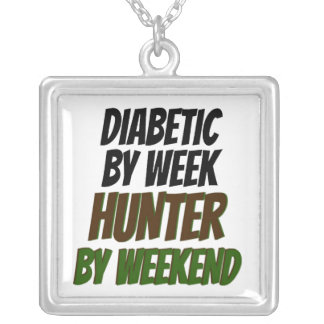 Diabetic Hunter Silver Plated Necklace