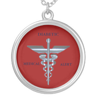 Diabetic Medical Alert Caduceus Necklace