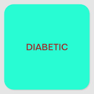 Diabetic Medical Chart Labels Square Sticker