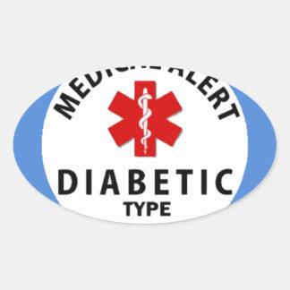 DIABETIES TYPE 1 OVAL STICKER