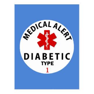DIABETIES TYPE 1 POSTCARD