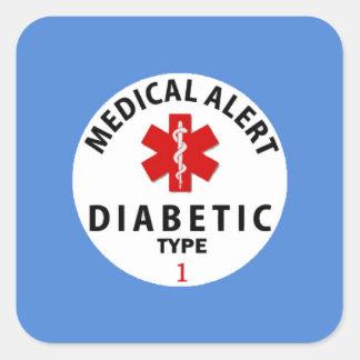 DIABETIES TYPE 1 SQUARE STICKER